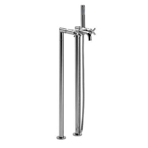 Roca Loft Floor Standing Columns Bath Shower Mixer Tap With Kit